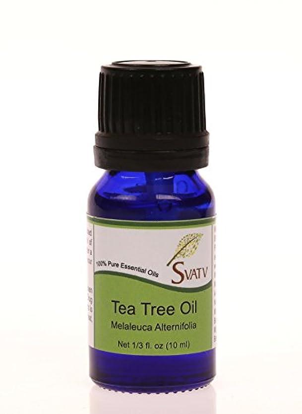 スズメバチレポートを書く現実SVATVティーツリー(Melaleuca alternifolia)エッセンシャルオイル10mL(1/3オンス)100%純粋な、希釈されていない、治療グレード