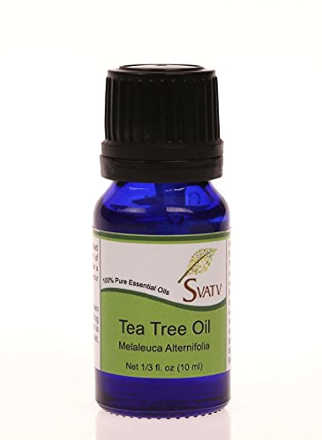 キャロライン会社小人SVATVティーツリー(Melaleuca alternifolia)エッセンシャルオイル10mL(1/3オンス)100%純粋な、希釈されていない、治療グレード