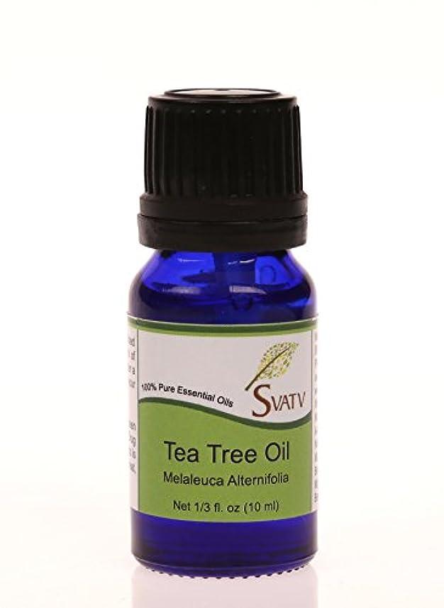 気分が良い航空会社慣れているSVATVティーツリー(Melaleuca alternifolia)エッセンシャルオイル10mL(1/3オンス)100%純粋な、希釈されていない、治療グレード