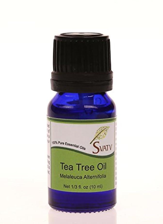 週末死曲線SVATVティーツリー(Melaleuca alternifolia)エッセンシャルオイル10mL(1/3オンス)100%純粋な、希釈されていない、治療グレード