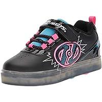 Heelys Girls' Pow X2 Tennis Shoe, Black Blue/Neon Pink