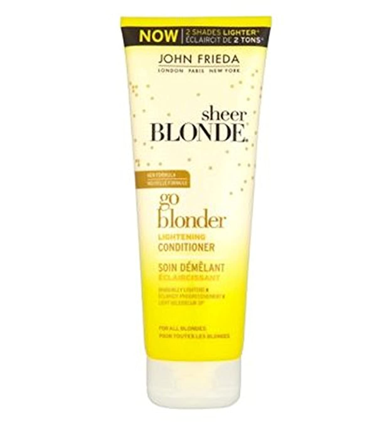 John Frieda Sheer Blonde Go Blonder Lightening Conditioner 250ml - ジョン?フリーダ薄手ブロンド行くBlonder美白コンディショナー250Ml (John...