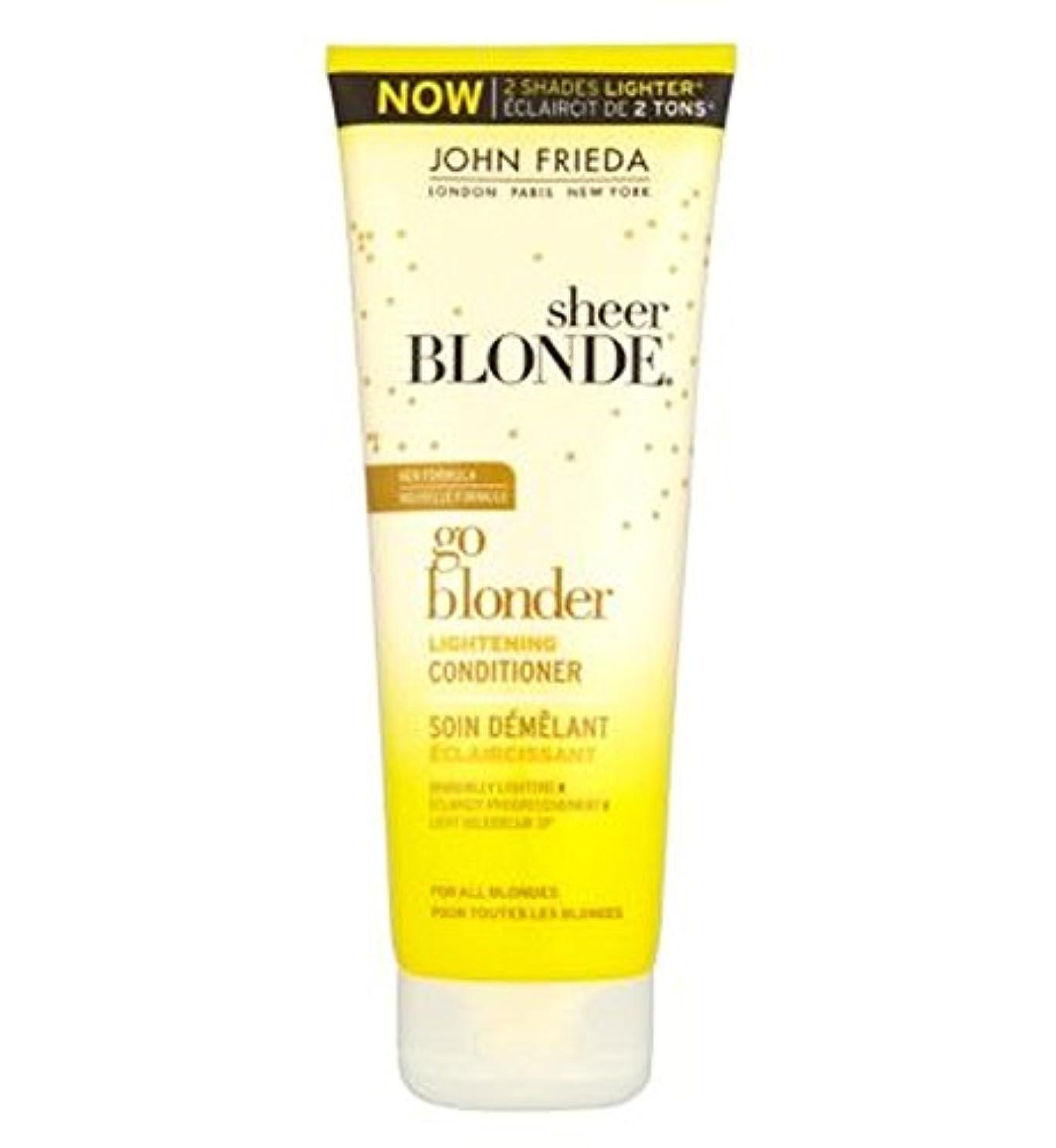 マニア誰侵入John Frieda Sheer Blonde Go Blonder Lightening Conditioner 250ml - ジョン?フリーダ薄手ブロンド行くBlonder美白コンディショナー250Ml (John...
