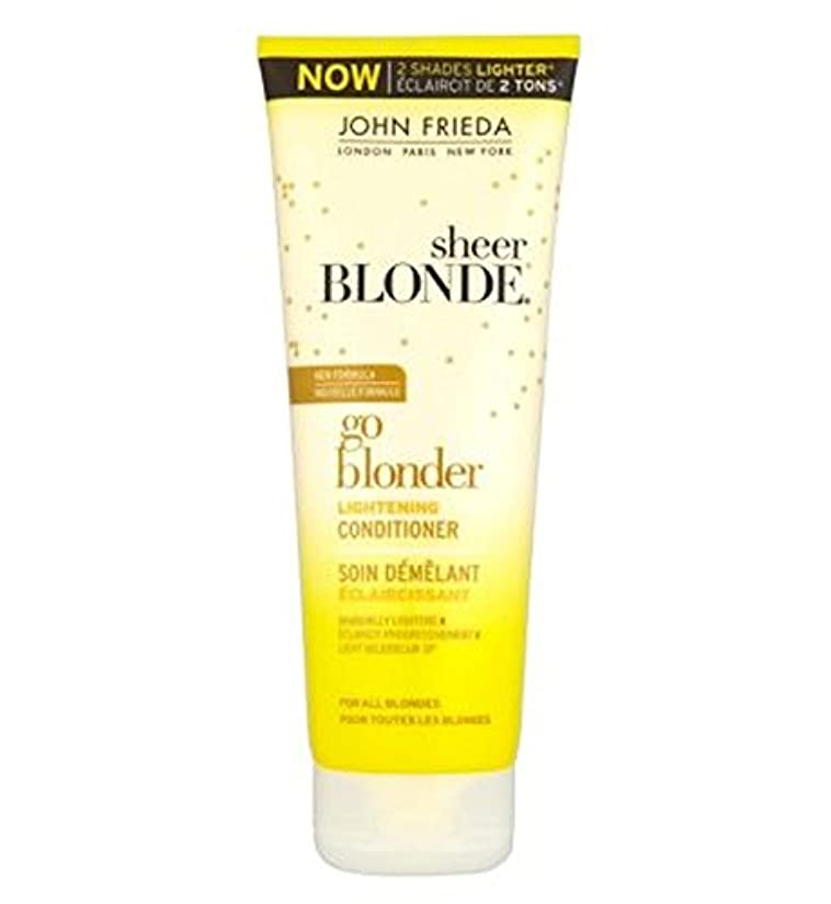 秘書辞任入るジョン?フリーダ薄手ブロンド行くBlonder美白コンディショナー250Ml (John Frieda) (x2) - John Frieda Sheer Blonde Go Blonder Lightening Conditioner...