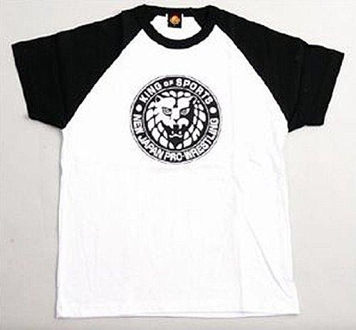 新日本プロレス ライオンマーク Tシャツ (黒) L