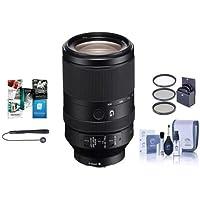 Sony FE 70–300mm f / 4.5–5.6G OSS・EマウントNEXカメラレンズ–Bundle with 72mmフィルタクリーニングキット、レンズキット、ラップ( 19x 19、Lenscapリーシュ、ソフトウェアパッケージ