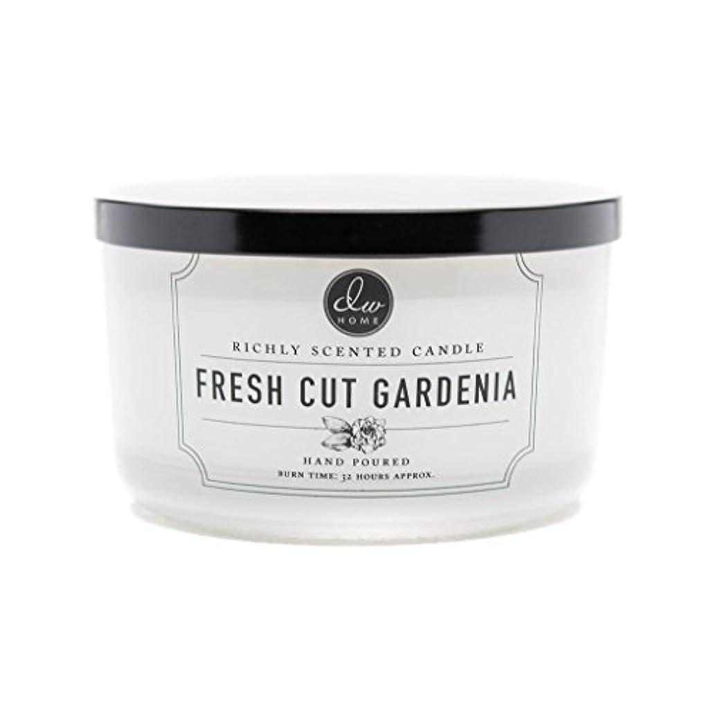合図呼ぶコテージDW Home Fresh Cut Gardenia Scented Large 3-wick Dish Candle by DW Home Decoware