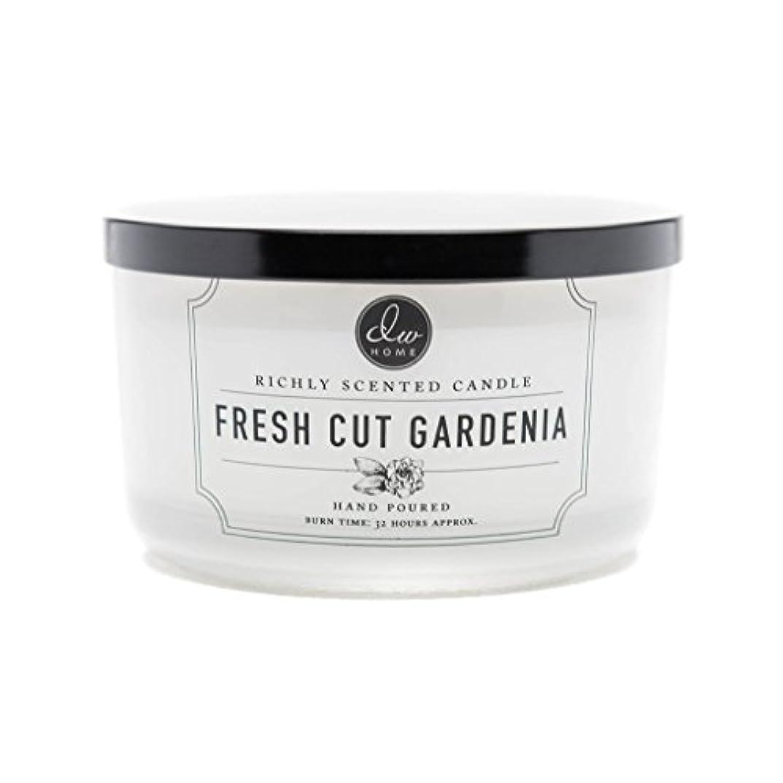 全国修士号追い払うDW Home Fresh Cut Gardenia Scented Large 3-wick Dish Candle by DW Home Decoware