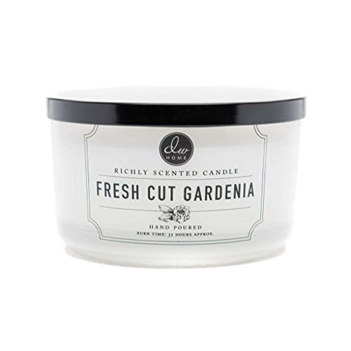 田舎リスナーホステスDW Home Fresh Cut Gardenia Scented Large 3-wick Dish Candle by DW Home Decoware