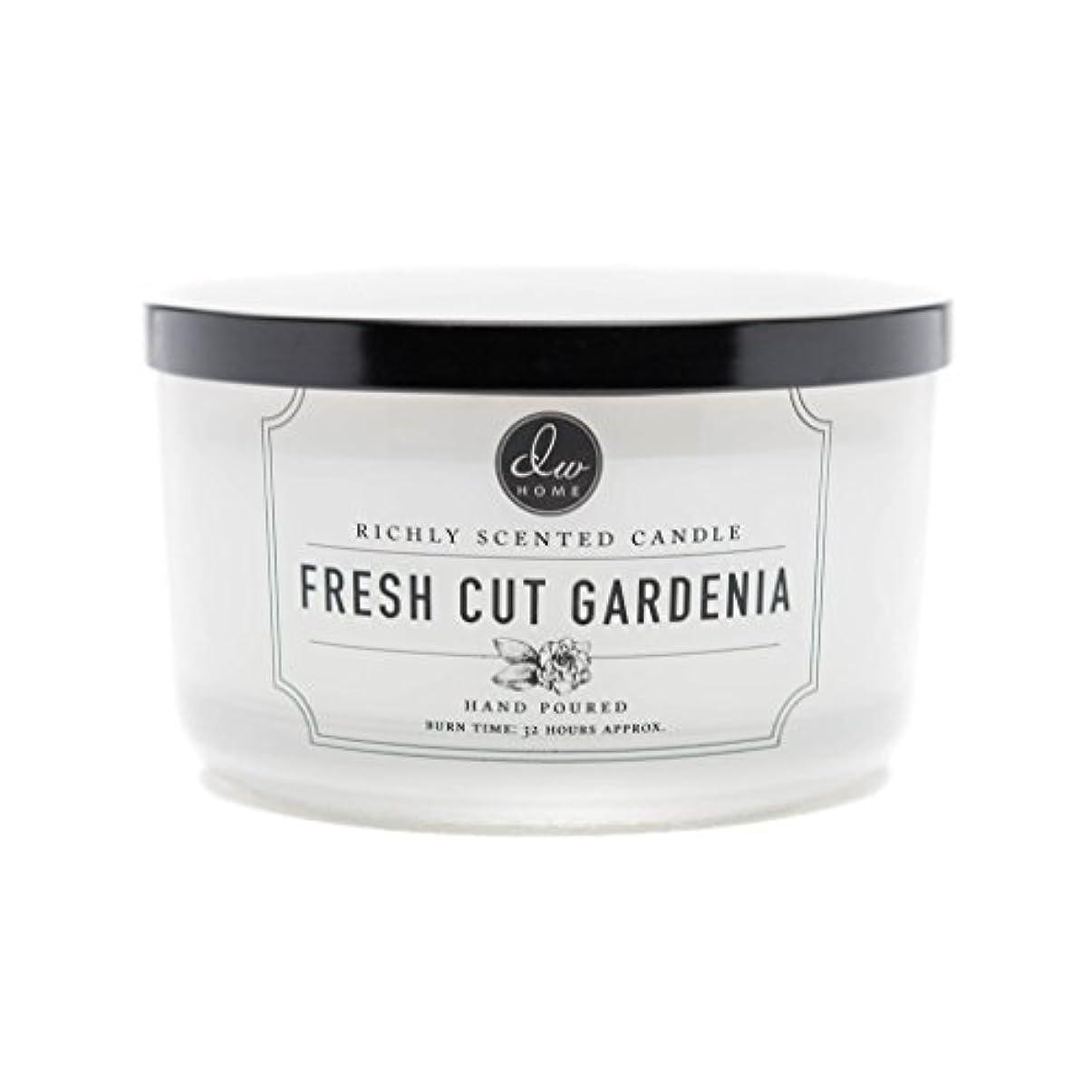 何もない兵器庫膜DW Home Fresh Cut Gardenia Scented Large 3-wick Dish Candle by DW Home Decoware