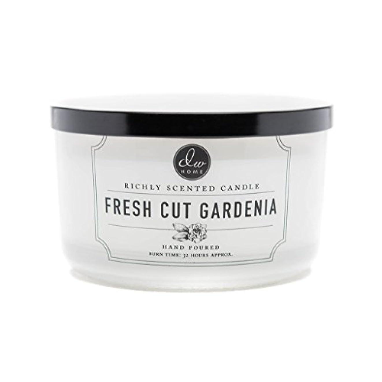 抑圧者サーフィン翻訳するDW Home Fresh Cut Gardenia Scented Large 3-wick Dish Candle by DW Home Decoware