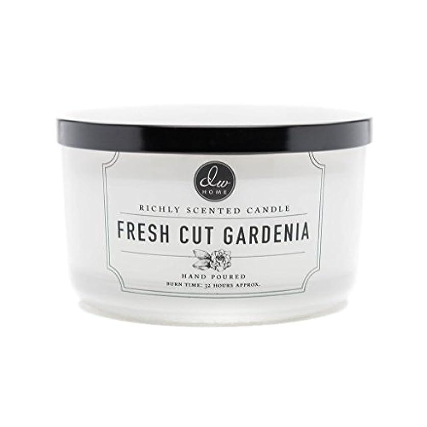 腹部おとうさんリーダーシップDW Home Fresh Cut Gardenia Scented Large 3-wick Dish Candle by DW Home Decoware