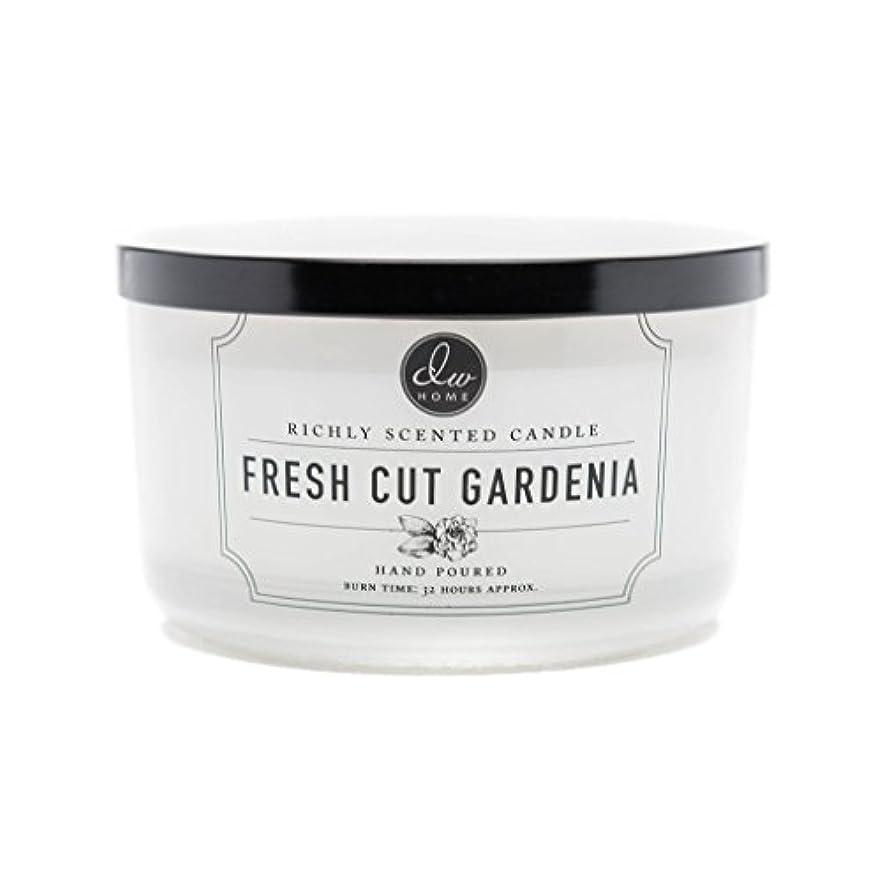 グリット番目春DW Home Fresh Cut Gardenia Scented Large 3-wick Dish Candle by DW Home Decoware