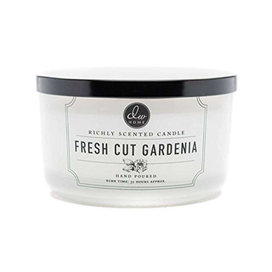 ピストン孤独暴動DW Home Fresh Cut Gardenia Scented Large 3-wick Dish Candle by DW Home Decoware