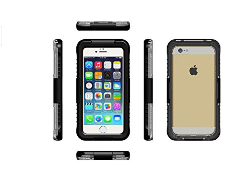 【全4色】【VSTN】Apple iphone 6 plus 5.5 インチ 専用防水防塵ケース iphone 6 plus 5.5 inch 防水ケース 防水 防塵 耐衝撃 iphone 6 plus スマホケース カバー アイフォン6 iPhone ケース 防水ケース (Apple iphone 6 plus 5.5 インチ, ブラック)