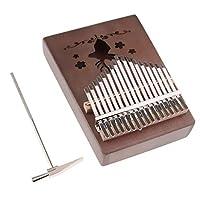 sharprepublic カリンバ 親指ピアノ 17キー フィンガーピアノ バッグ チューナーハンマー付き 全2色 - ブラック