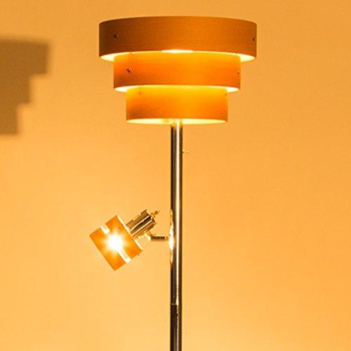 【大人の空間を作る間接照明 おしゃれスタンドライト】 LED対応 2方向型 アッパーライト スポットライト 木目デザイン 北欧風 フロアライト ナチュラル色