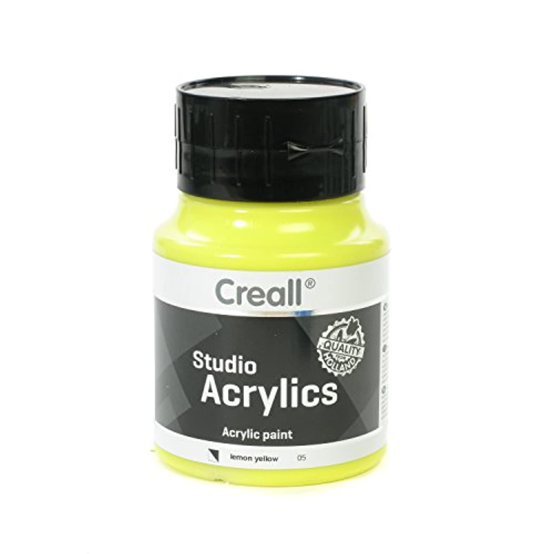 American Educational Products A-05005 Creall-Studio-Acrylics 500Ml 05 Lemon Yellow