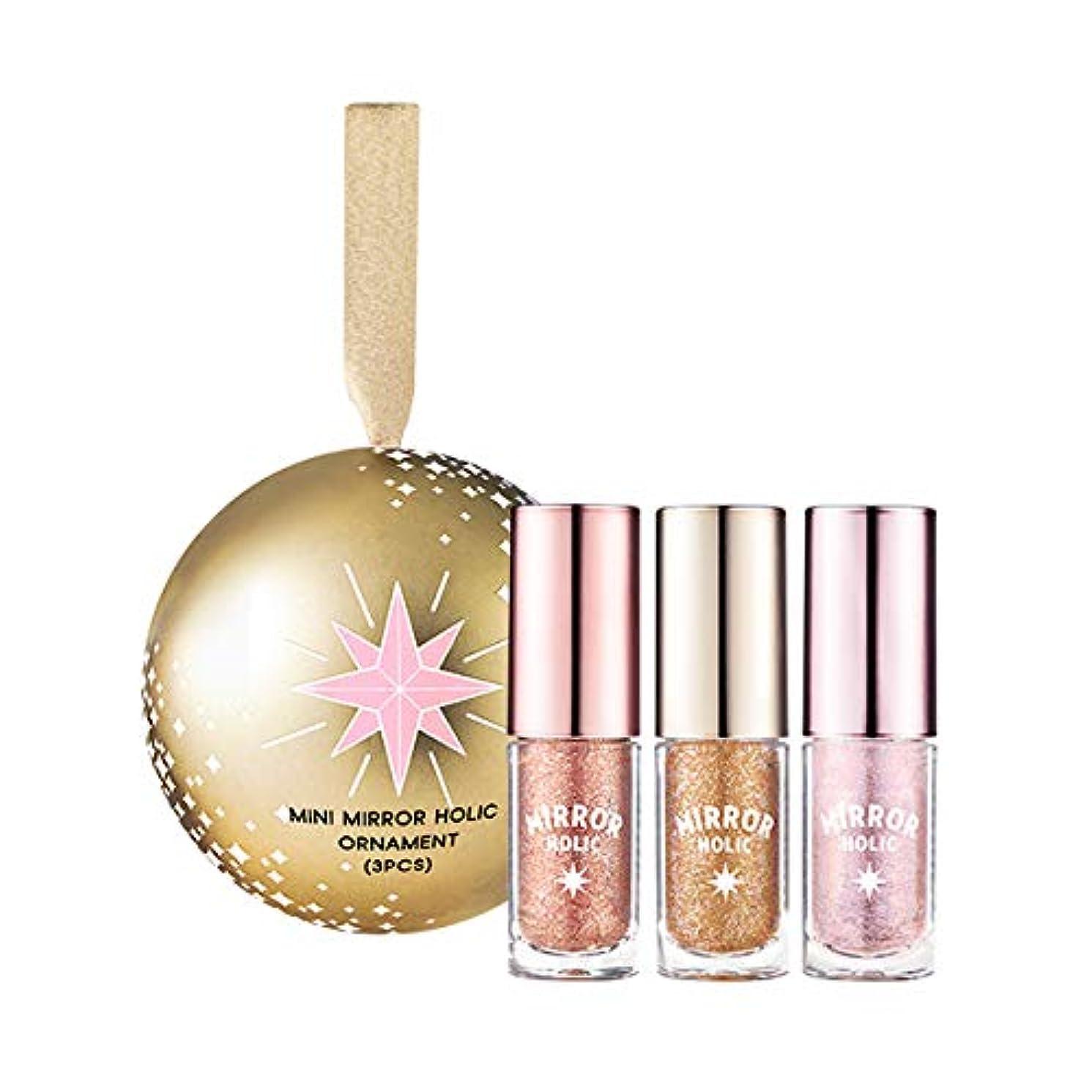 ETUDE HOUSE 【Holiday】 Tiny Twinkle Mini Mirror Holic Liquid Eyes Ornament (3PCS) / エチュードハウス タイニー タイニートゥインクル ミラーホリックオーナメント