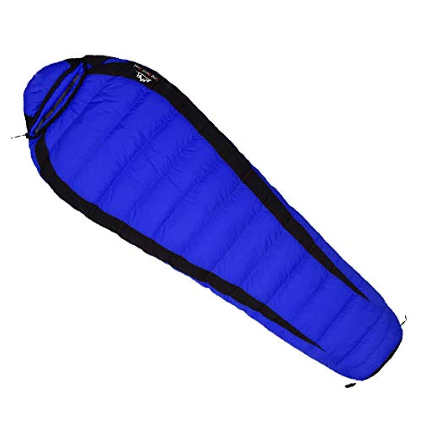 チョークアブセイ完全にLilyAngel 寝袋は暖かいフィールドを保持ポータブルミイラは、キャップを寝袋でダブルファイト厚い通気性の寝袋は、屋外キャンプに適したダウン充填
