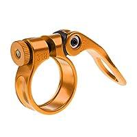 Baosity アルミ合金 自転車 クイック リリース シートポスト クランプ 全5色 - ゴールド