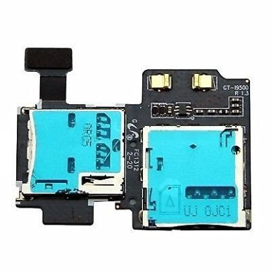 New Micro SD SIM Card Tray Slot Holder Replacement Repair Part for Samsung Galaxy S4 IV GT-i9500 i9505 i337/ATT M919/T-Mobile SCH-i545/Verizon SPH-L720/Sprint SCH-R970/US Cellular (I9500) [並行輸入品]