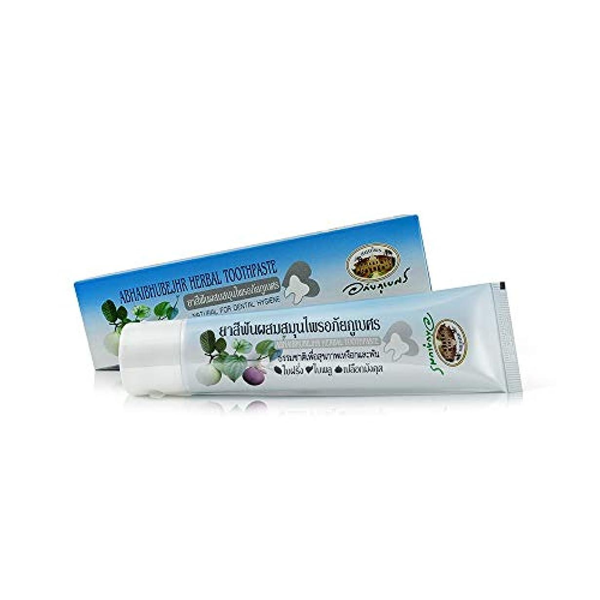 ウガンダファイバ自殺Abhaibhubejhr Herbal Toothpaste Natural For Dental Hygiene 歯科衛生のためのAbhaibhubejhrハーブ歯磨き粉ナチュラル (70g)