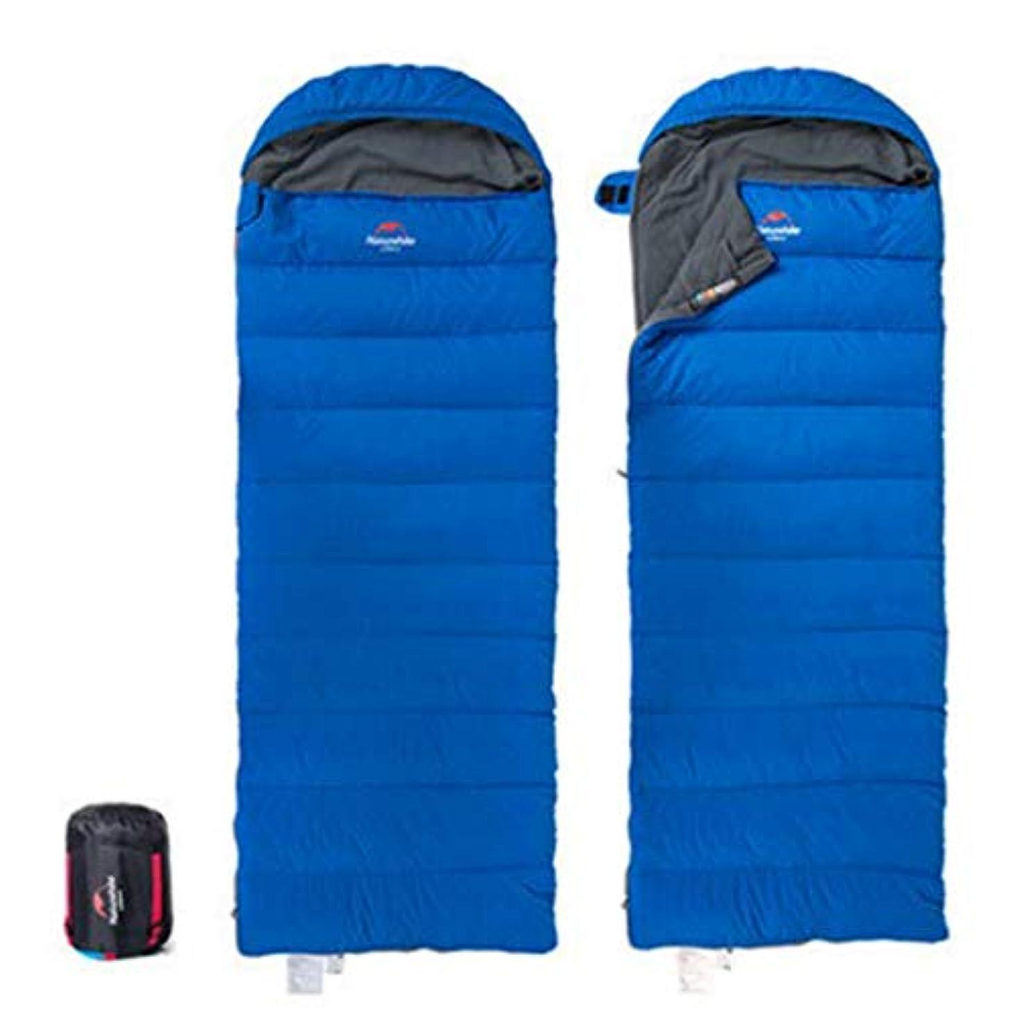 下手審判放射性CUBCBIIS キャンプの寝袋屋外の多機能および便利な軽量の、防水寝袋 (Color : ブルー)