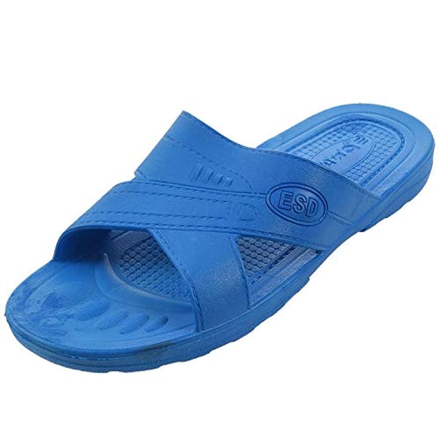 スクレーパー使い込むRETYLY 静電気防止用スリッパ クリーン ダストフリー 保護スリッパ、男性と女性のクリーンな作業靴 柔らかい底46