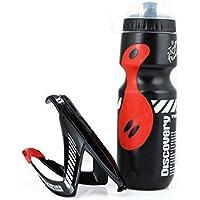 750mlスポーツボトル水ボトルブラック/レッドMTBロードバイク用スポーツボトル