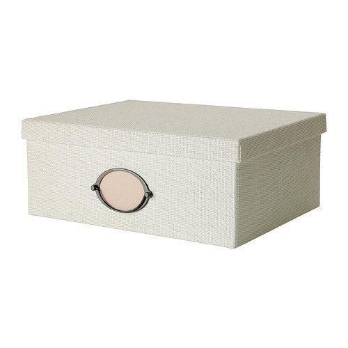 KVARNVIK/ふた付きボックス/ホワイト(38x29x15)[イケア]IKEA(50256687)