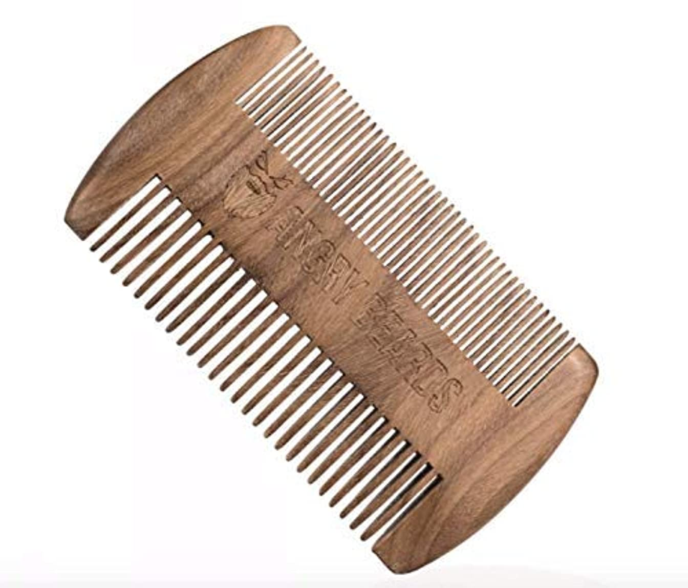 のヒープ空ドリンクWooden Beard Comb 10x6cm by Angry Beards Made in Czech Republic / チェコ共和国製の怒っているひげによって木のひげの櫛10 x 6 cm
