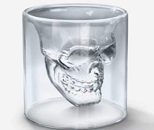 【RICISUNG】ショットグラス カップ ドクロ スカル 髑髏型 骸骨 海賊 75ml