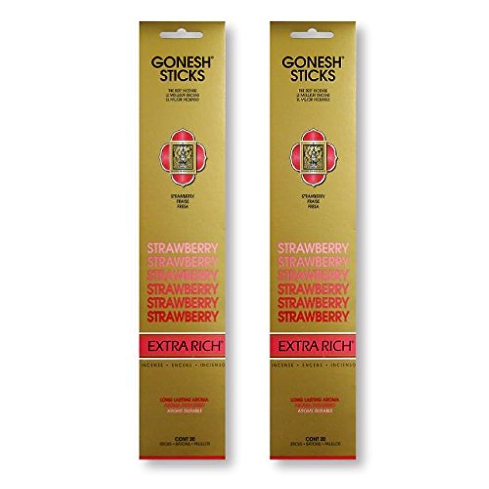 寓話クラウン洗剤GONESH STRAWBERRY ストロベリー スティック 20本入り X 2パック (40本)