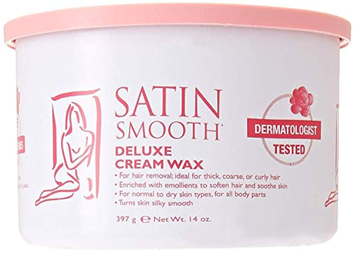 引き受ける細心の低いSatin Smooth Deluxe Cream Wax, 14 Ounce