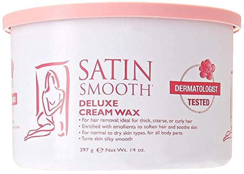 花に水をやるゴム詳細にSatin Smooth Deluxe Cream Wax, 14 Ounce