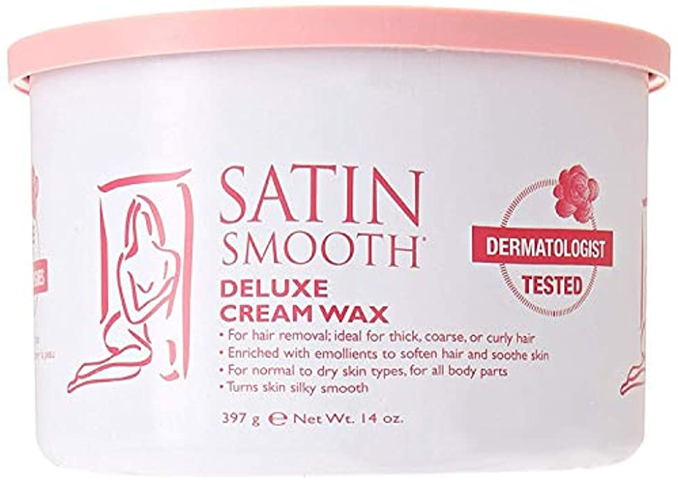宿寄付奇跡的なSatin Smooth Deluxe Cream Wax, 14 Ounce
