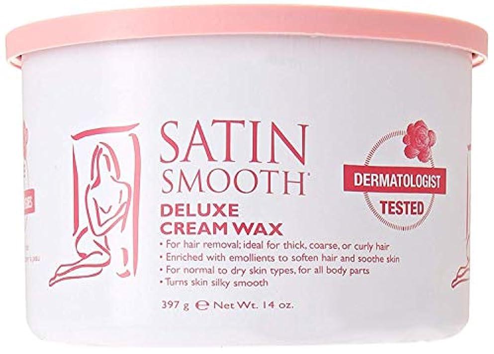 ケーブルで出来ている日記Satin Smooth Deluxe Cream Wax, 14 Ounce