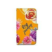 CANCER by CREE 手帳型 ケース HTC U11 601HT 花 フラワー ロージー スマホ カバー dy001-00500-04 601HT(HTC U11):L