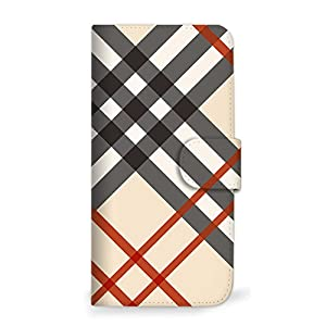 mitas iPhone6s ケース 手帳型 チェック アイボリー (74) SC-0183-IV/iPhone6s