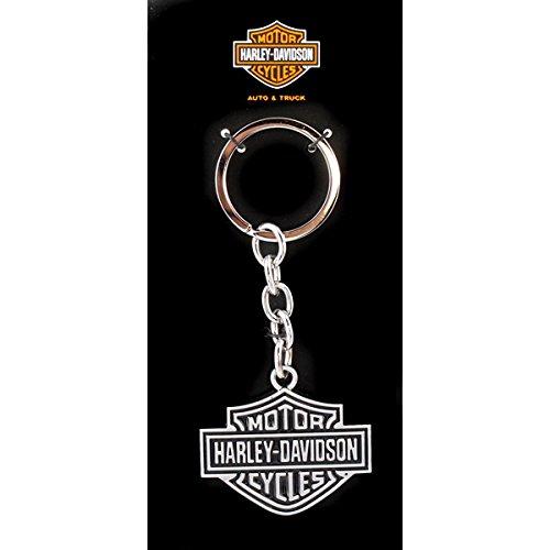ハーレーダビッドソン メタルキーリング ブラック B&S ロゴ #HDKD14 /Harley-Davidson/キーホルダー・キーチェーン/アメリカン雑貨/ [並行輸入品]