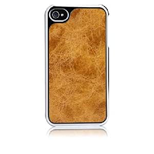 Case-Mate 日本正規品 iPhone 4S / 4 Barely There 2.0 Case with Screen Protector, Distressed Brown Leather ベアリー・ゼア2 ケース (液晶保護シート つき) ディストレスト・ブラウン・レザー CM012976