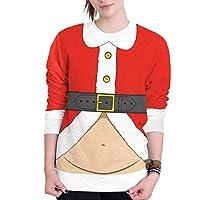 Huicai 女性の3DクリスマスセーターCrewneck様々なデザインクリスマスプリントクルーネックプルオーバースウェットシャツ