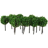 【ノーブランド品】1/300サイズ 鉄道模型用 樹木 (グリーン) 50本