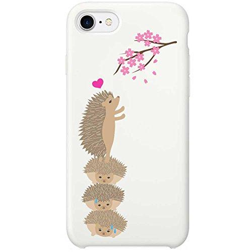 4.7インチ対応 ( iPhone 8 / 7 ) ケース ハード pc カバー ホワイトケース ハリネズミのお花見 888-68278