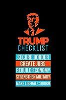 Notizbuch: Kalender 2020 Trump Republikaner Maga Checkliste First Geschenk 120 Seiten, 6X9 (Ca. A5), Jahres-, Monats-, Wochen- & Tages-Planer