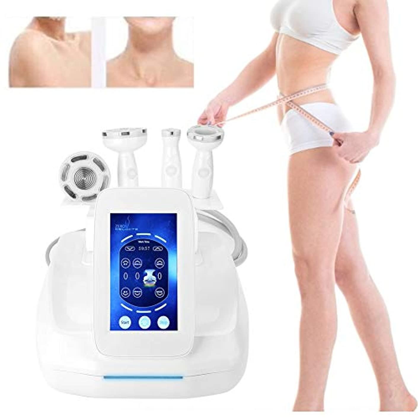 40K振動ボディ整形マッサージャー、全身の減量のマッサージャーの多極発破脂肪の器械の美顔術(3つのマッサージの頭部)セリウム、FDAの承認の持ち上がること(110V - 220V)