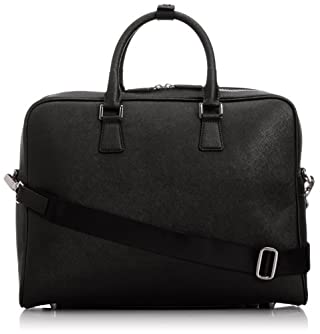 Leather Briefcase 1332-699-4009: Black