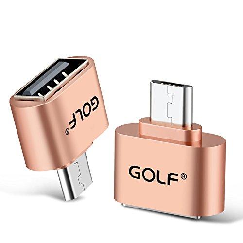 Joyshare Micro USB OTGケーブル (ホスト機能)対応 USBホスト 変換アダプター (MicroBオス-Aメス) (ゴール...