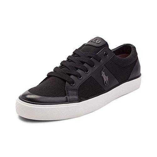 (ポロラルフローレン) Polo Ralph Lauren メンズカジュアルシューズ・スニーカー・靴 Ian Casual Shoe Black 9 27.5cm M [並行輸入品]